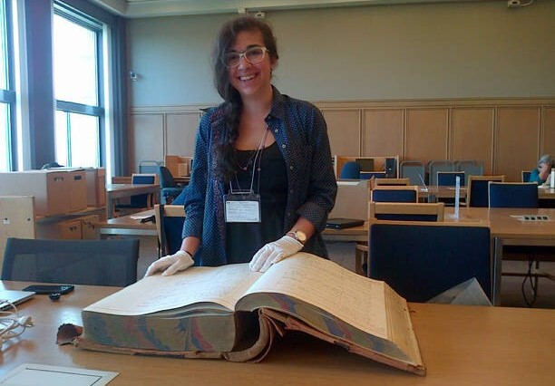 Legal History RA Monique Ulysses at Library and Archives Canada, July 2015