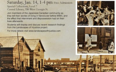 Memories of Dispossession and Internment: Panel discussion series