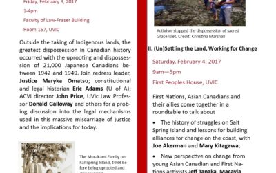 Asian Canadians on Vancouver Island Workshop Feb. 3-4, 2017