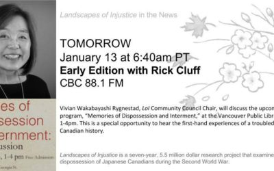 Link to radio interview with Vivian Rygnestad on CBC's Early Edition with Rick Cluff