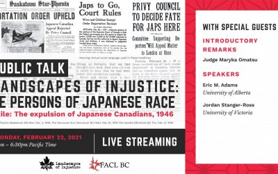 Public Talk Re Persons of Japanese Race Exile: The Expulsion of Japanese Canadians, 1946 -with recording link