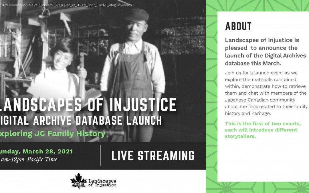 Landscapes of Injustice Spring 2021 Newsletter